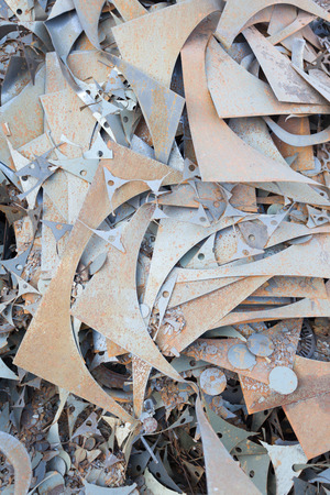 milling center: old rusty metal elements background
