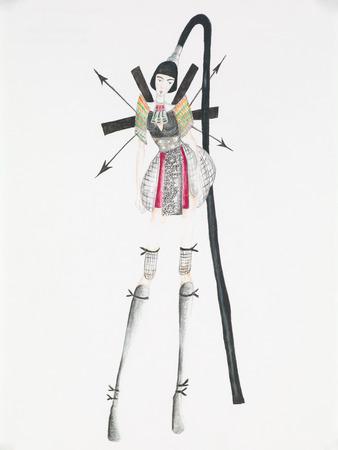 extravagant fashion design. hand drawn illustration