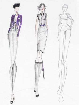 is interesting: fashion sketch illustration interesting contemporary women creations