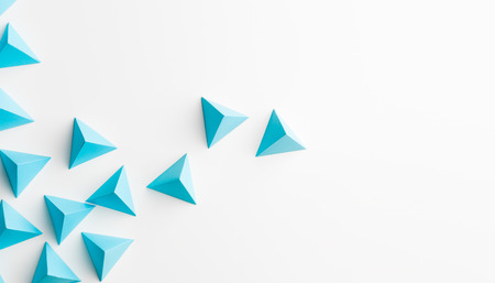 origami: abstract tetrahedron background. copy space available. usefull for business cards and web