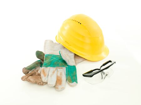 protective workwear: protective workwear on white background