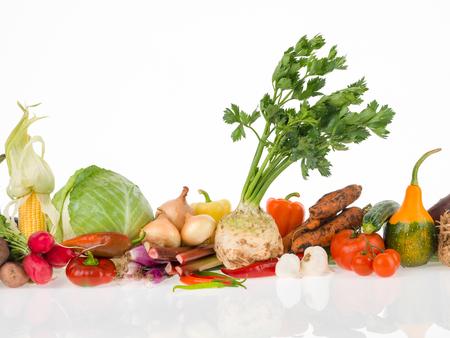 legumes: cru groupe de légumes pour une vie saine