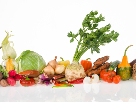 vege: raw vegetables group for a healthy life Stock Photo