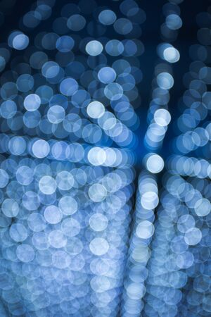 blue lines: blurred lights abstract texture pattern Stock Photo