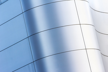 curved  facade building in City texture background