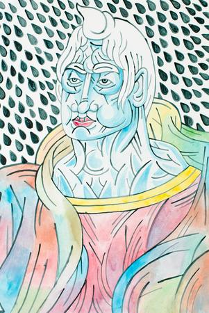 gotas de agua: colorida ilustraci�n de una figura con las gotas de agua detr�s humanos