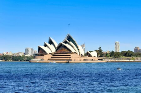 Sydney, Australia - September 4, 2013: Sydney Opera House and Sydney skyline, Australia.