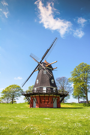 Copenhagen, Denmark - May 14, 2015: Windmill in Kastellet fortress, Copenhagen, Denmark.