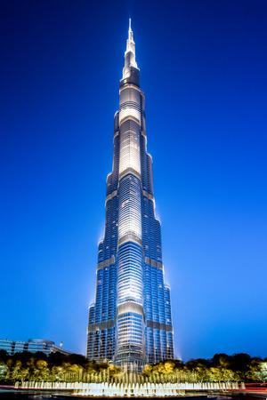 Abu Dhabi, United Arab Emirates - April 13, 2015: Burj Khalifa in Dubai, UAE. Редакционное