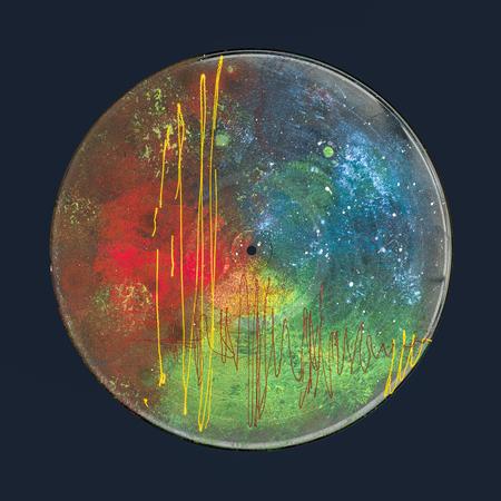 Abstracte unieke handgeschilderde vinyl