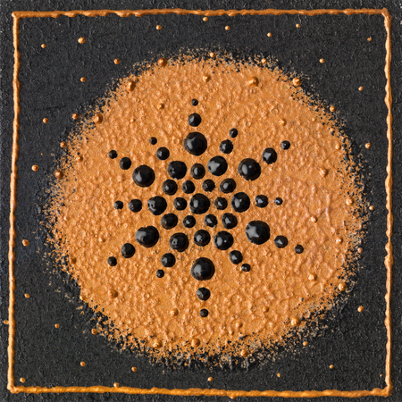 chakra energy: Abstract creation from black and golden brown colours.