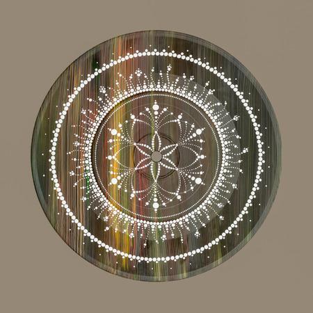 Abstract handgeschilderd mandala zaad van het leven Stockfoto