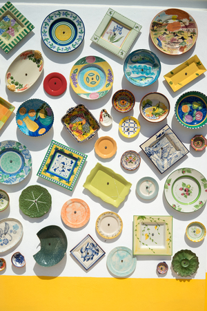 Wall of portuguese pottery