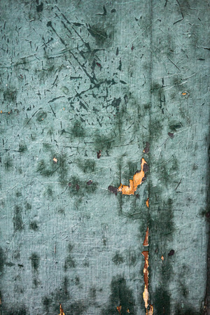 Turquoise Blue Wood Panel with Peeling Paint Texture