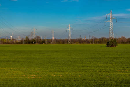 contryside: Pylons and factories in the country