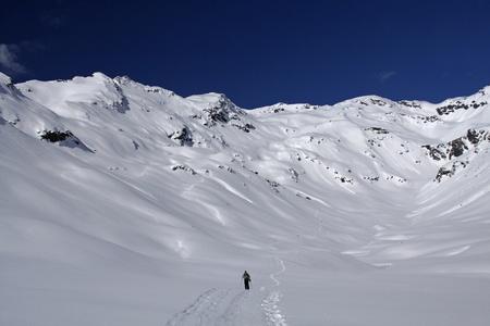 ski and backcountry in italian snow mountain photo