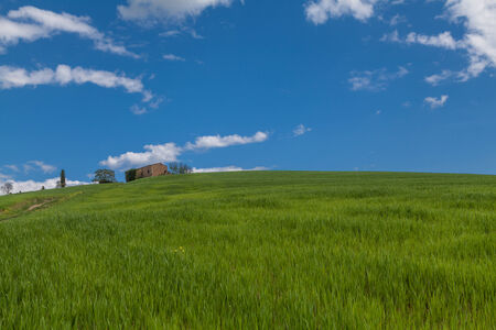 colonial house in the hills of tuscany region in Italy photo