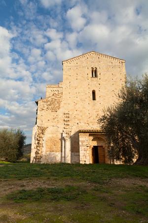 antimo: Sant Antimo Abbey near Montalcino in Tuscany, Italy  Editorial