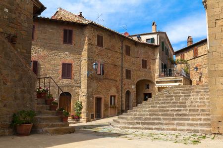 monticchiello: old medieval small town Monticchiello in Tuscany, Italy, Europe