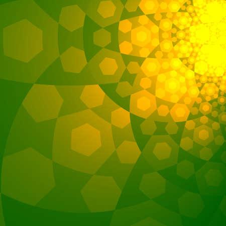 Abstract Sun Glare on Green Sky