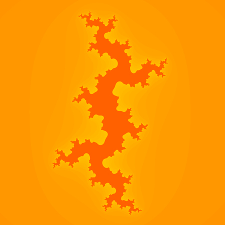 Simple Yellow Orange Fractal Wall Crack Background Square Dimensions