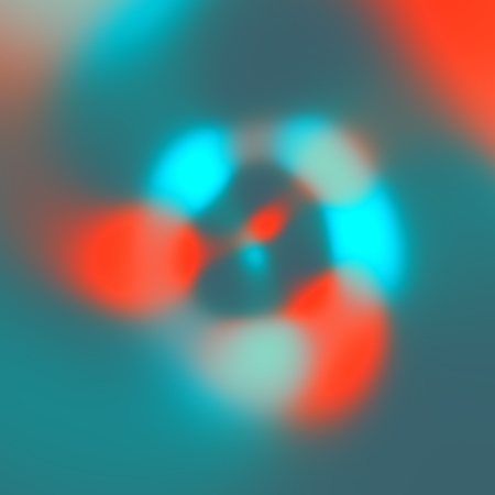 Simple Abstract Blue Orange Blurry Glare Lights Background