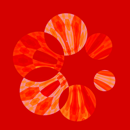 Abstract Artistic Red Spinner Circles Background Pattern Stock Photo