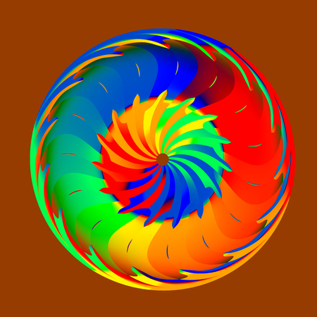 Abstract Colorful Round Rainbow Security Centric Shield
