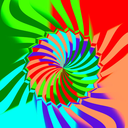 Colorful Abstract Mill or Spinning Saw Pattern Stock Photo
