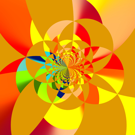 intersect: Abstract Artistic Computer Rendered Colorful Fractal Background