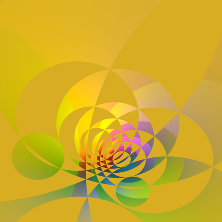 Abstract Delicate Artistic Colorful Circle Fractal Background Stock Photo