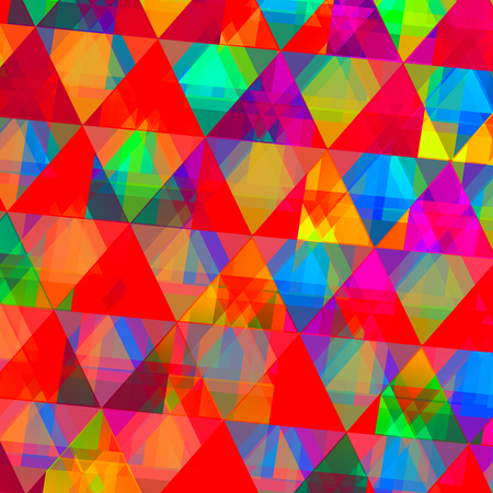 Abstract Colorful Digital Diamond-Like Triangle Pattern Background Stock Photo