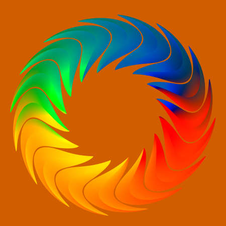 Abstract Closed Colorful Rainbow Cycle Business Workflow