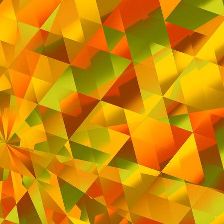 Abstract Warm Yellow Diamond Reflections Background Pattern Stock Photo