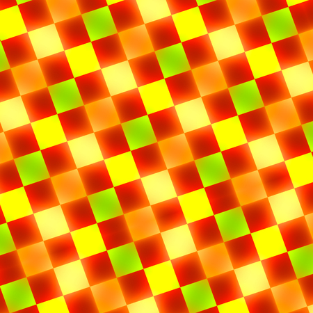 Abstract Warm Red Yellow Green Glowing Tiles Stock Photo