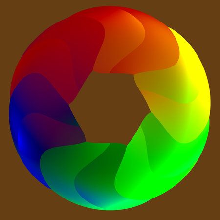 Abstract Round Colorful Rainbow Ring Cycle Illustration