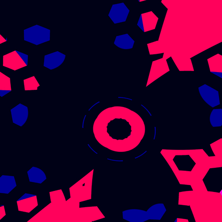 Abstract Lab Experiment Attacking Pink Bacteria Stock Photo