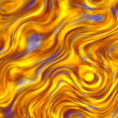 Abstract Golden Blue Marijuana Fumes Ornamental Background