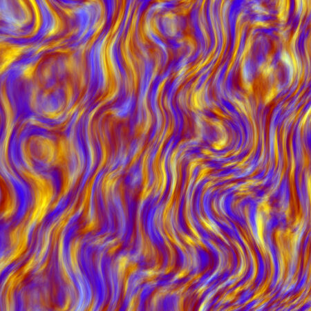 Abstract Rising Blue Yellow Colored Fumes Turbulent Stock Photo
