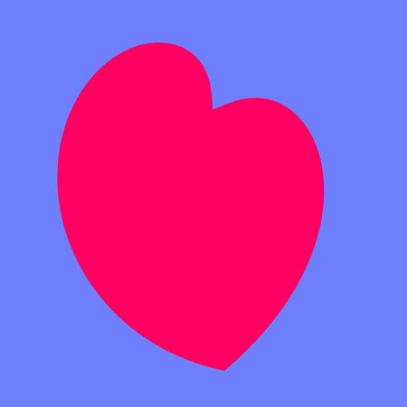 Abstract Funny Childish Heart Simple Stylized Symbol