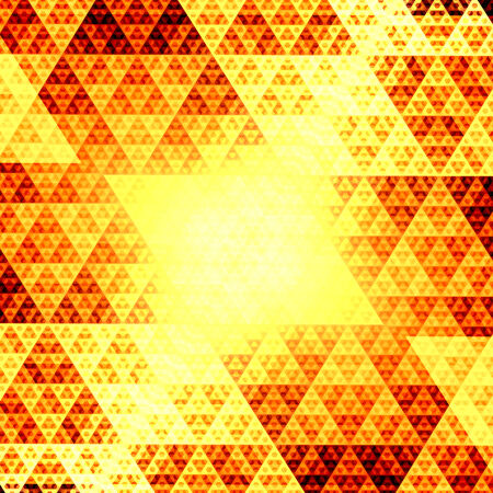 Abstract Computer Rendered Glowing Golden Sierpinski Fractal photo
