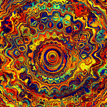 artisitc: Abstract Artisitc Colorful Rich Mandala Pattern Background Stock Photo