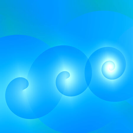 simple abstract blue swirls background square dimensions Stock Photo