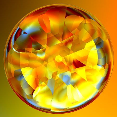 scrying: Abstract Lucent Illuminated Fortune Teller Crystal Ball
