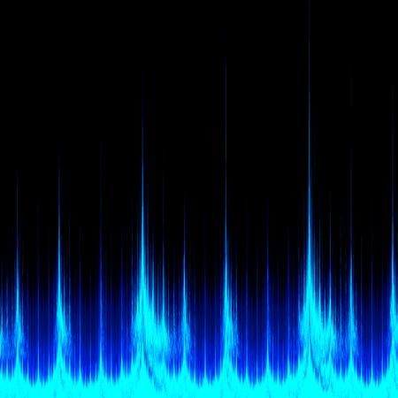 Abstract Visualization - Digital Sound Signal - Software Analyzer Equalizer Stock Photo - 26891012