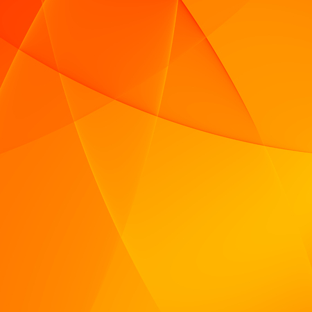 Simple Elegant Abstract Orange Presentation Background - Curves Stock Photo