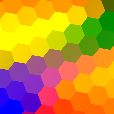 Rainbowy Hexagons - Abstract Background - Colorful Rainbow Tiles
