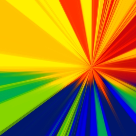 centric: Warp Drive - Colorful Background - Rainbow Rays -  Abstract Centric Radiation Stock Photo