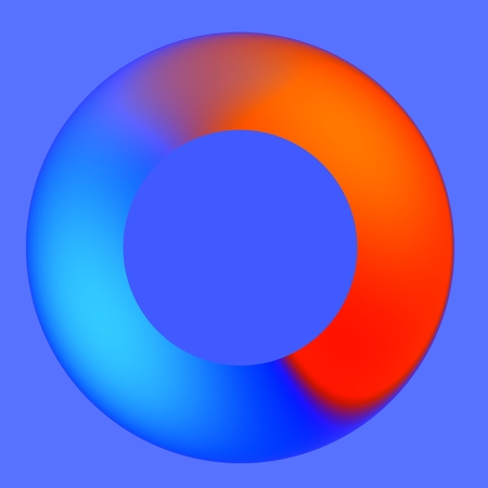 Blue Red Spinner - Cycle - Mouse Icon - Waiting Hanging Frozen Application photo