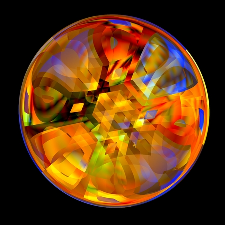 Crystal Marble - Fortune Telling - Colorful Ball - Illuminated - Abstract Magic Ball Stock Photo